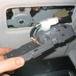 sunroof switch assembly, removed