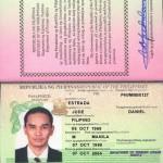 Jude's passport, clearly fake!