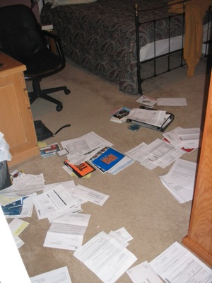 Rob's filing system