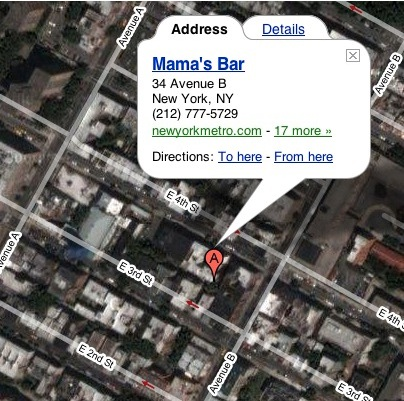 Mama's Bar, NYC