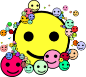 a smattering of smilies