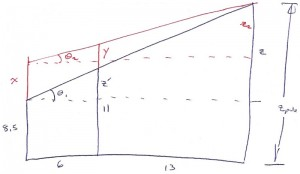 aluminum pole trigonometry