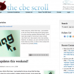 The CBE Scroll blog