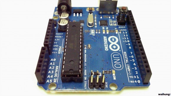 The Arduino Uno, marvel of electronics enthusiasts.